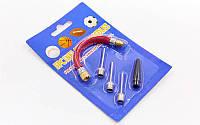Набор для накачивания мячей (3 иглы, шланг, насадка для насоса) PZ-FB-4584