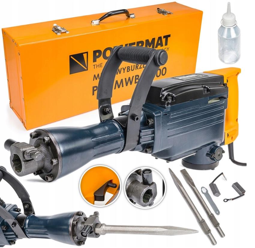 Отбойный молоток Powermat PM-MWB-3000 HEX 3000W 45J