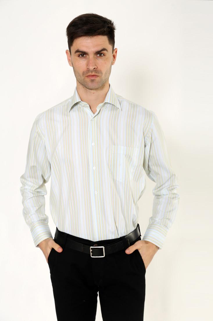 Рубашка 9021-23 цвет Салатово-голубой