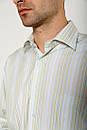 Рубашка 9021-23 цвет Салатово-голубой, фото 2