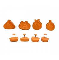 """Плунжер кондитерский для печенья, мастики, марципана """"Angry Birds"""" 4шт"""