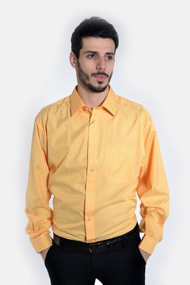 Рубашка 50PD0868-33 цвет Ярко-желтый