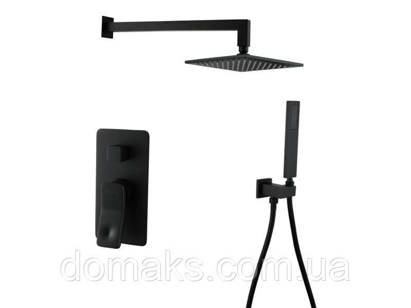 Unique Душевая система 85507902 черная ASIGNATURA