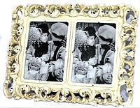 Фоторамка ажурная на 2 фотографии в стиле ретро 25х19 см