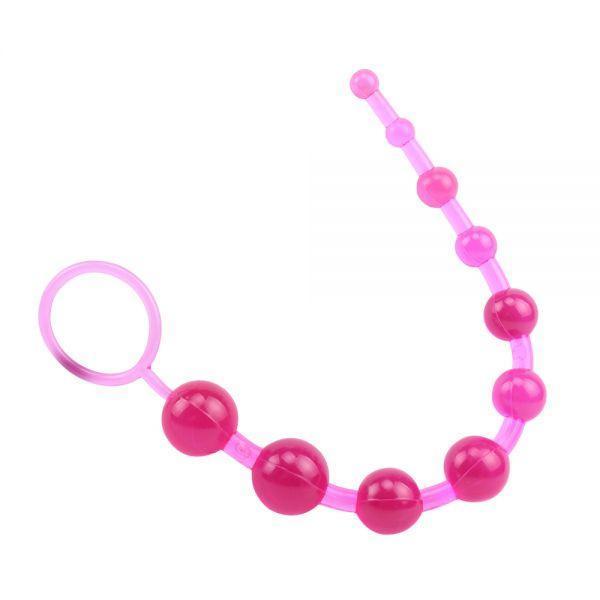 Гибкая анальная цепочка Sassy Anal Beads Pink/Blue/Purple