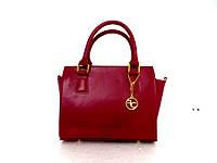 Стильная женская сумочка. Натуральная кожа. Италия. Красный, фото 1