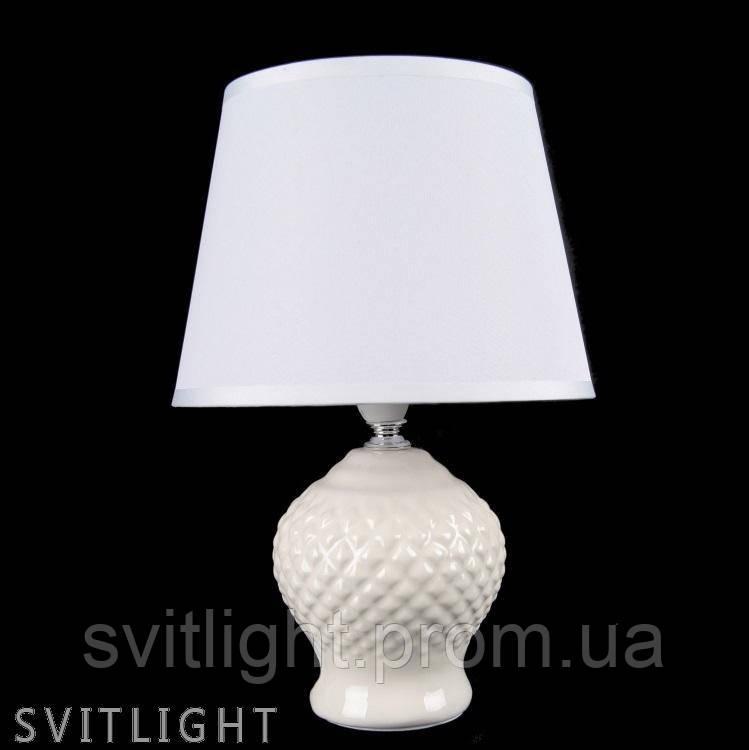 Настольная лампа с абажуром NTD12506 WT SR Svitlight