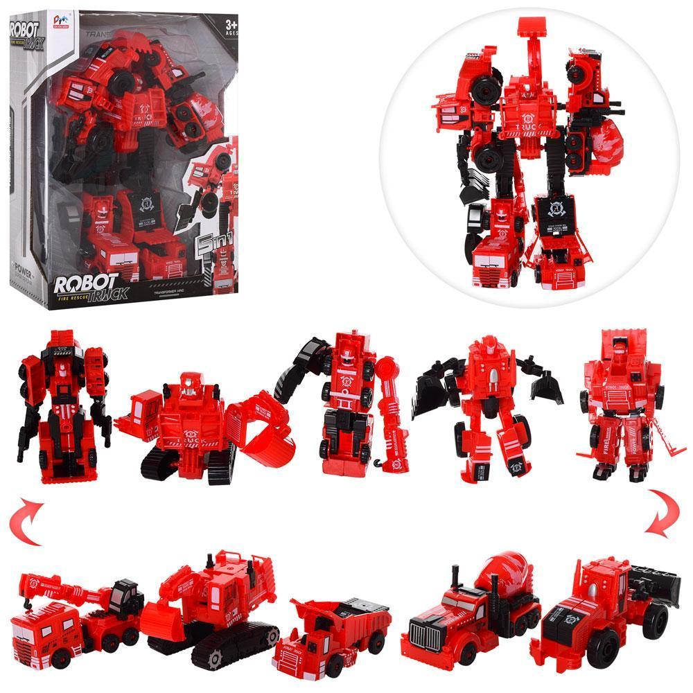 Трансформер 7700T 5в1, робот+машинки