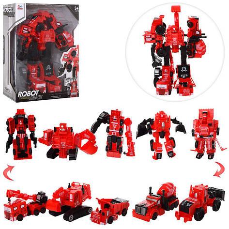 Трансформер 7700T 5в1, робот+машинки, фото 2