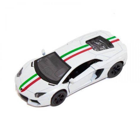 "Машинка KINSMART ""Lamborghini Aventador LP 700-4"" (белая) KT5355FW, фото 2"
