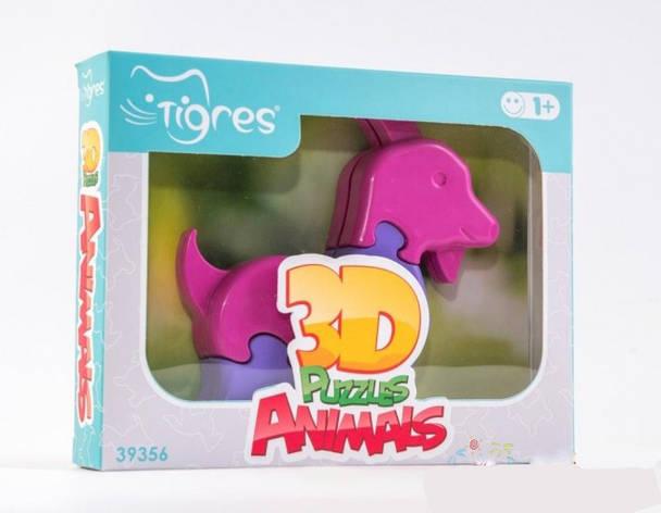 Игрушка развивающая: 3D пазлы   Животные (1шт.) - 8 эл. 39356-3 Козлик, фото 2