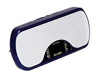 Портативная MP3 колонка USB плеер FM AT-6525 Blue