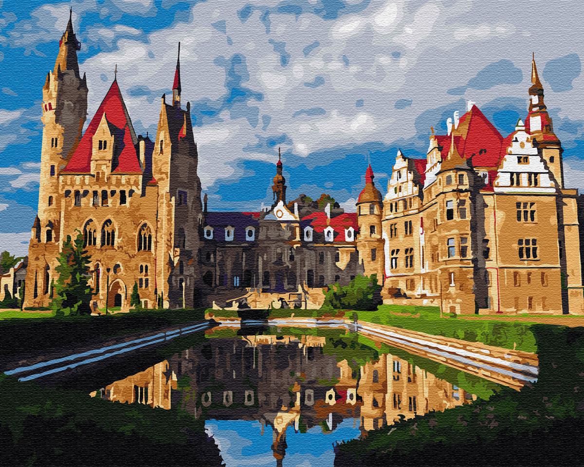 """Картина по номерам. Brushme """"Мошненский замок в Польше"""" GX33175"""