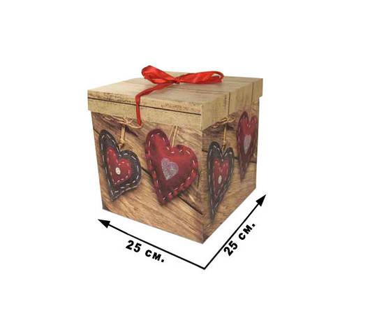 Коробка подарочная CEL-141-1XL  в пак.,/25*25см, фото 2
