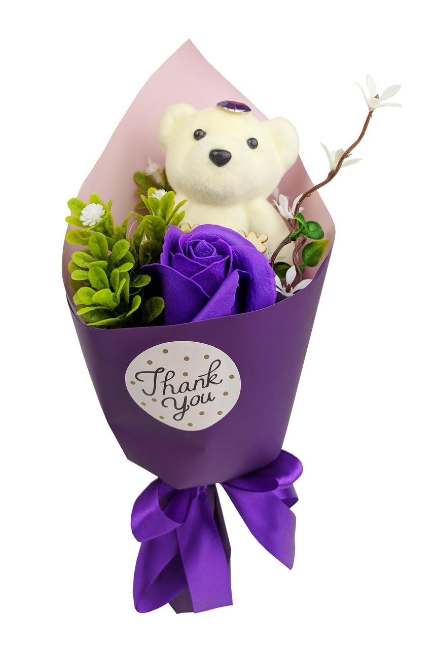 Аксессуары для праздника MK 3323(Violet) цветы/мишка