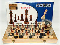 Игровой настольный набор 3 в 1: Шашки Шахматы Нарды (40 х 40 см)