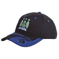 Кепка футбольного клуба MANCHESTER CITY (хлопок, черный-синий) PZ-CO-0801