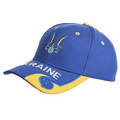 Кепка футбольного клуба УКРАИНА (хлопок, синий-желтый) PZ-CO-0807