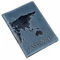Обложка для паспорта из кожи Shvigel 13956 Синий