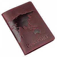 Обложка для паспорта из кожи Shvigel 39995 Бордовый