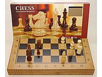 Игровой настольный набор 3 в 1: Шашки Шахматы Нарды (40 х 40 см) Бамбук