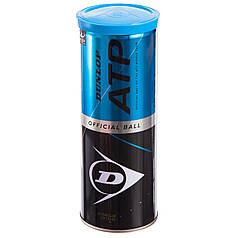 Мяч для большого тенниса Dunlop Sport (3шт) ATP (в вакуумной упаковке, салатовый) PZ-601313