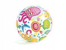 Мяч надувной Intex 59040-2 Морские животные