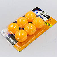 Набор мячей для настольного тенниса 6 штук Donic JADE (пластик, d-40мм, оранжевый) PZ-MT-618378