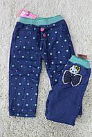 Утепленные джинсовые брюки на флисе  1 год