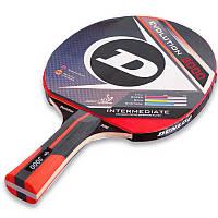 Ракетка для настольного тенниса 1 штука DUNLOP EVOLUTION 3000 (древесина, резина)