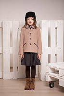 Демисезонное кашемировое полупальто для девочек от 6 до 12 лет