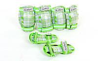 Защита детская наколенники, налокотники, перчатки Zelart CANDY (S-M-3-12лет) Белый-зеленый S (3-7лет) PZ-SK-4678_13