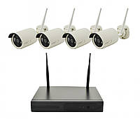 Комплект видеонаблюдения Dvr Kit Cad Wireless WiFi-5030 4ch набор на 4 камеры, фото 1
