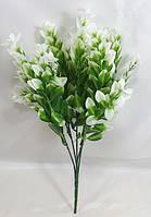 Зеленый с белым цветной самшит 34 смискусственный куст зелени для декора, фото 1