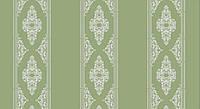 Обои на бумажной основе Шарм 150-03 Барокко светло-зеленые  (0,53х10м.)