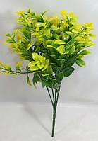 Зеленый с желтым цветной самшит 34 см искусственный куст зелени для декора, фото 1