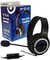 Проводная гарнитура с микрофоном для PS4 Elite (ORB)