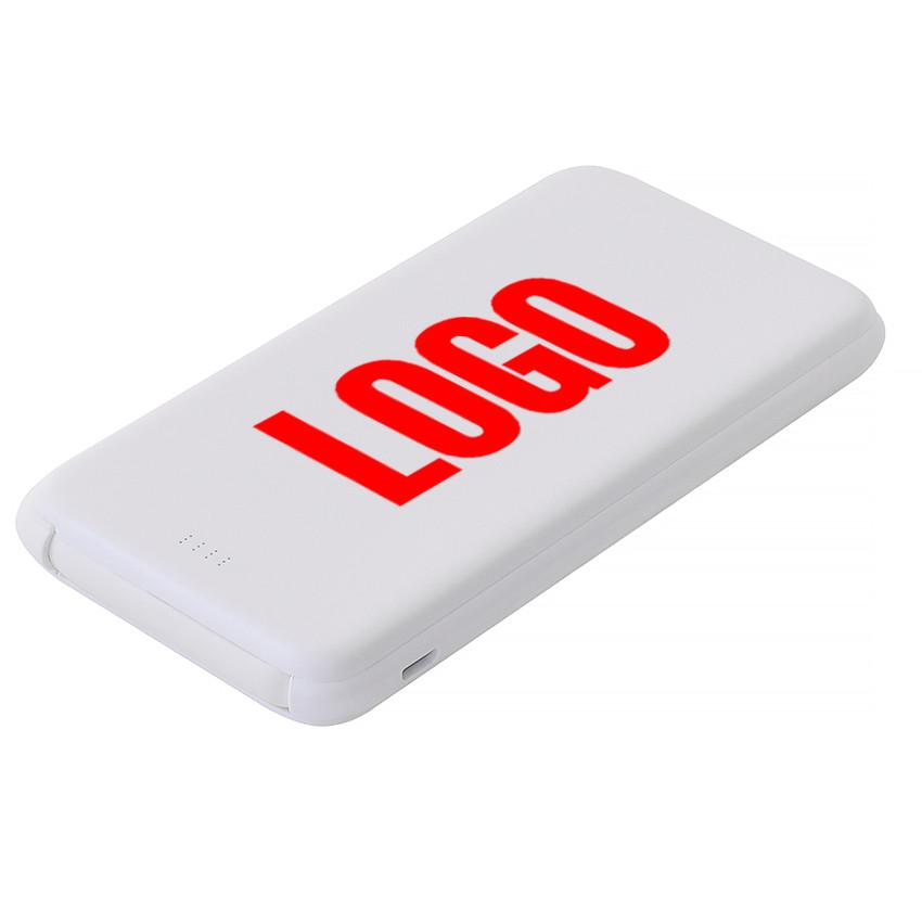 Power Bank пластиковый 10000 mAh белый под печать (Е510-10000)