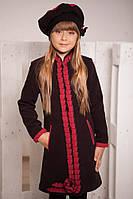 Демисезонное кашемировое пальто для девочки