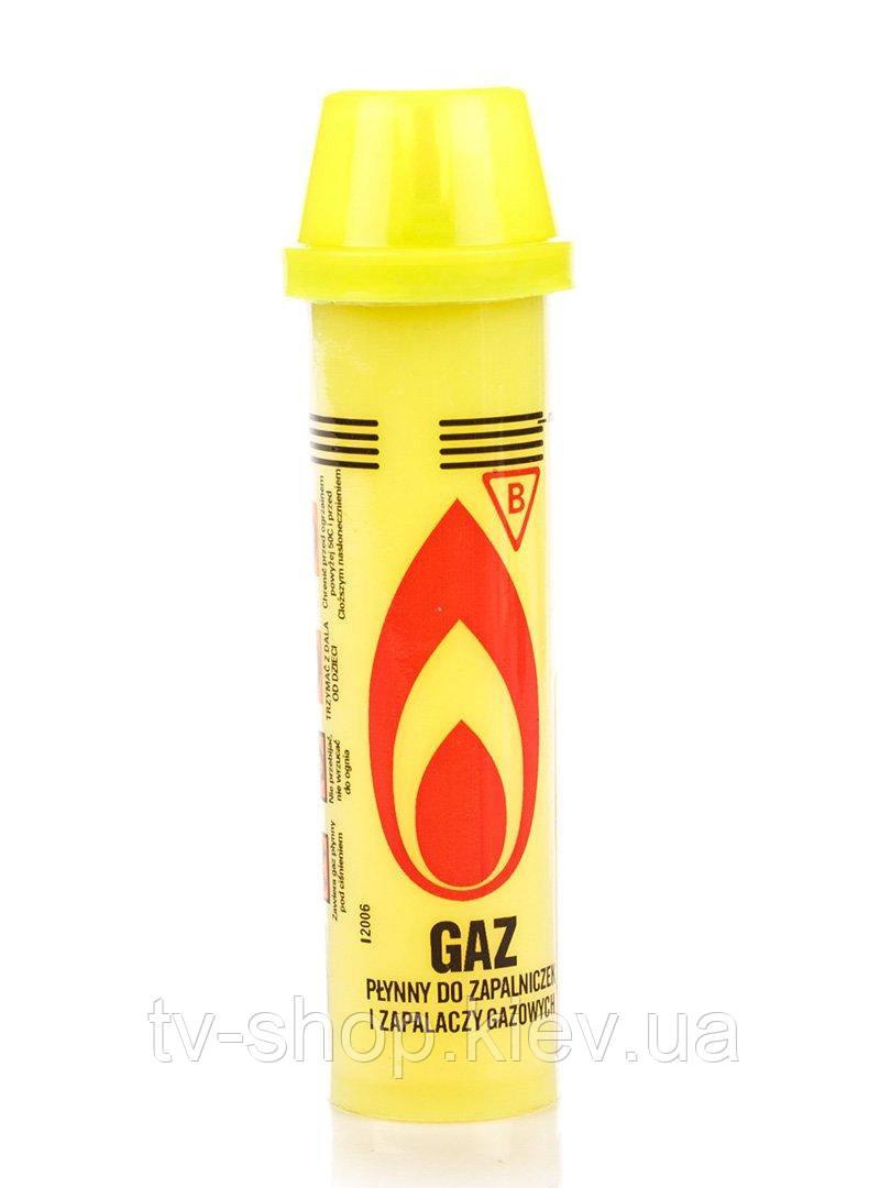 Газ баллончик для заправки зажигалок ,90мл