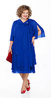 Платье Pretty-1019/2 белорусский трикотаж, василёк, 56