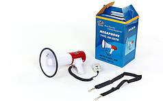 Громкоговоритель (пластик, d-20,5см, l-33см, 20W с микрофоном, бело-красный) PZ-HW-2007