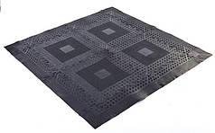 Коврик-пазл резиновый для спортивных залов набор 4шт+8шт+4шт 1,39м2 (покрытия 118х118см, черный) PZ-FI-5349