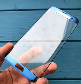 Стекло дисплея для Samsung G935 Galaxy S7 EDGE синий