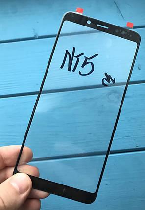 Стекло дисплея для Xiaomi Redmi Note 5 черное (оригинал Китай), фото 2