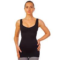 Майка утягивающая (корректирующая) Thin vest (S-3XL,нейлон, эласт) Черный S-M PZ-ST-9161_1