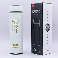 Термос стальной 450ml 13,14 My life, my love, 52 Love (сталь, цвет белый) PZ-D-014-W