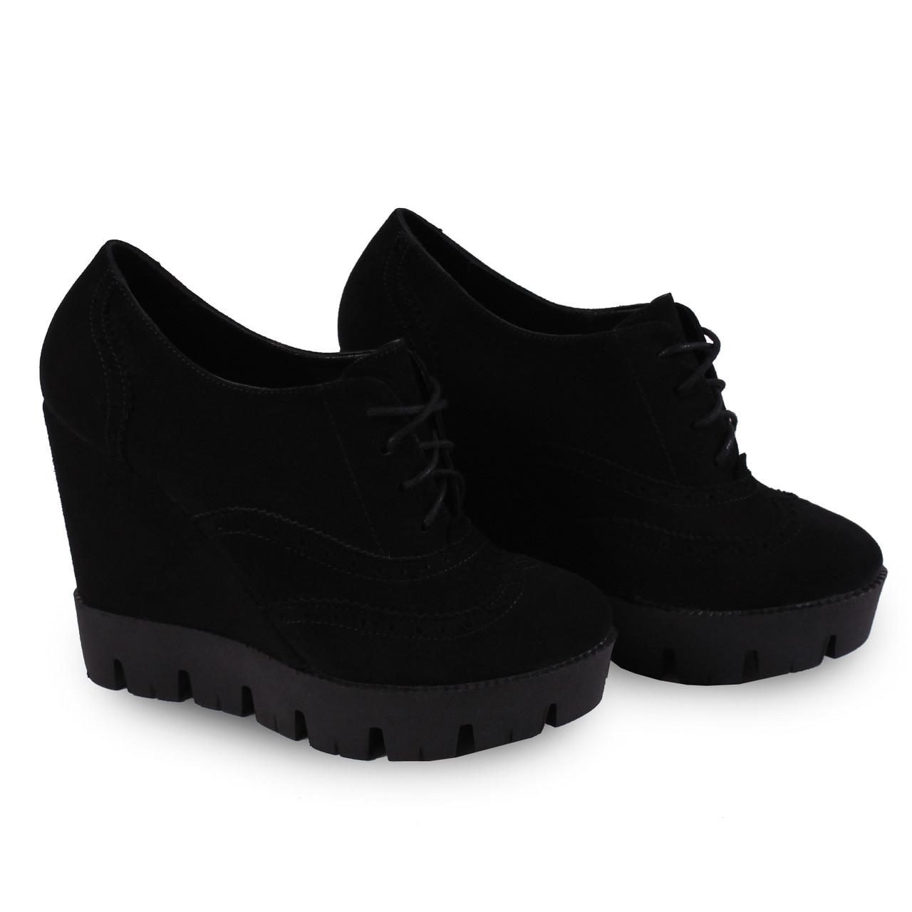 29c7395eb Купить Замшевые туфли на танкетке недорого в интернет магазине обуви ...