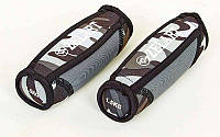 Гантели для фитнеса с мягкими накладками Zelart (2x1,5кг) (2шт, наполнитель-метал.шарики, серый камуфляж) PZ-FI-5730-3