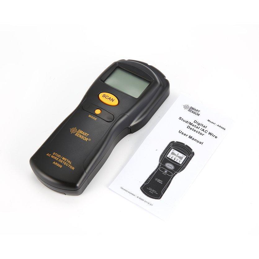 Металлоискатель для поиска проводов в стенах AR906 цифровой
